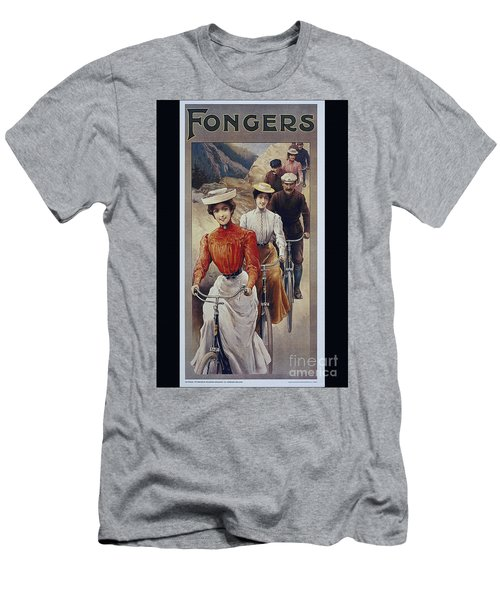 Elegant Fongers Vintage Stylish Cycle Poster Men's T-Shirt (Athletic Fit)