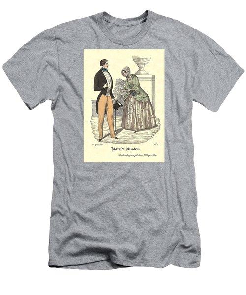 Elegant Vintage Biedermeier Fashion Men's T-Shirt (Athletic Fit)