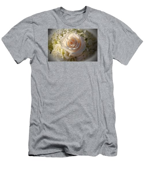 Elegant White Roses Men's T-Shirt (Athletic Fit)