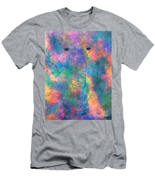 Men's T-Shirt (Athletic Fit) featuring the painting Elephant Spirit by Denise Tomasura