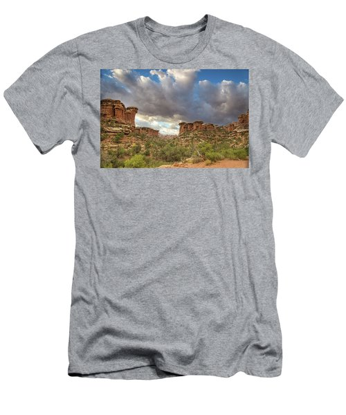 Elephant Sunrise Men's T-Shirt (Athletic Fit)