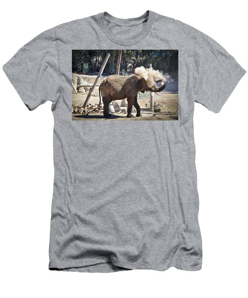 Elephant Throwing Sand In His Eye Men's T-Shirt (Athletic Fit)