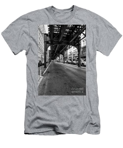Elevated Train Track The Loop In Chicago, Il Men's T-Shirt (Athletic Fit)