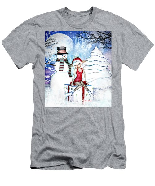 Elfin Winter Holidays Men's T-Shirt (Athletic Fit)
