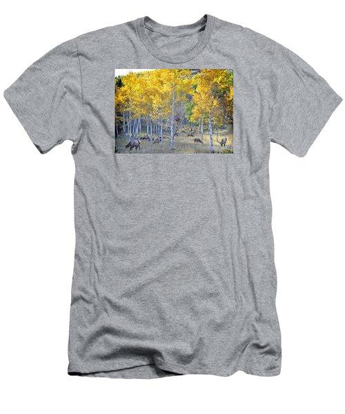 Elk In Rmnp Colorado Men's T-Shirt (Slim Fit) by Nava Thompson