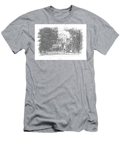 Men's T-Shirt (Slim Fit) featuring the photograph Ellaville, Ga - 1 by Jerry Battle