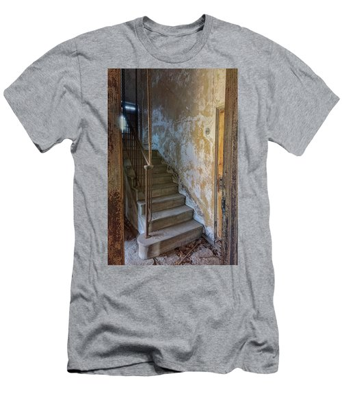 Men's T-Shirt (Athletic Fit) featuring the photograph Ellis Island Stairs by Tom Singleton