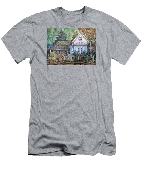 Men's T-Shirt (Slim Fit) featuring the painting Elma's Home by Gretchen Allen