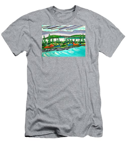 Emerald Sea Islands Men's T-Shirt (Athletic Fit)