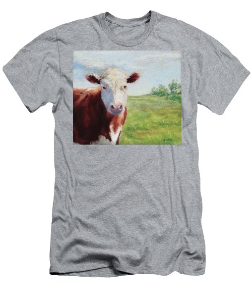 Men's T-Shirt (Slim Fit) featuring the painting Emmett by Vikki Bouffard
