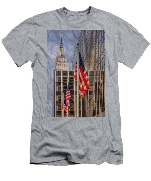 Empire State Nyc Reflections Men's T-Shirt (Athletic Fit)