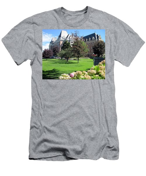 Empress Hotel Men's T-Shirt (Slim Fit) by Betty Buller Whitehead