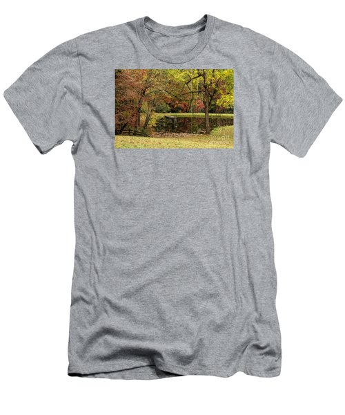 Men's T-Shirt (Slim Fit) featuring the photograph Empty Dock by Barbara Bowen