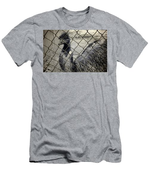 Emu At The Zoo Men's T-Shirt (Slim Fit) by Luke Moore