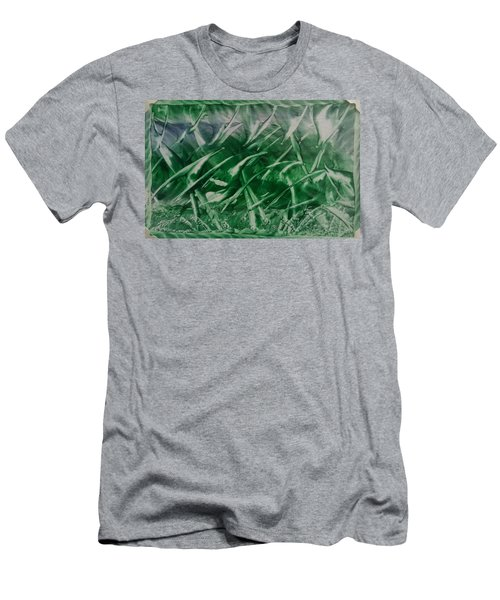 Encaustic Green Foliage With Some Blue Men's T-Shirt (Athletic Fit)