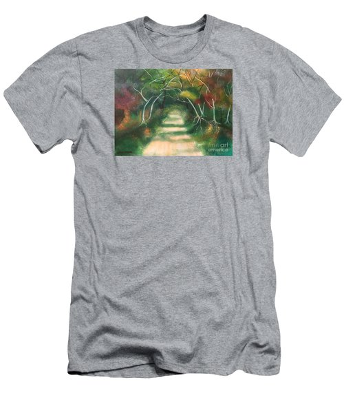 Men's T-Shirt (Slim Fit) featuring the painting Enchanted Forest by Denise Tomasura