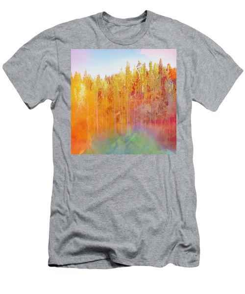 Men's T-Shirt (Slim Fit) featuring the digital art Enchanted Scenery #3 by Klara Acel
