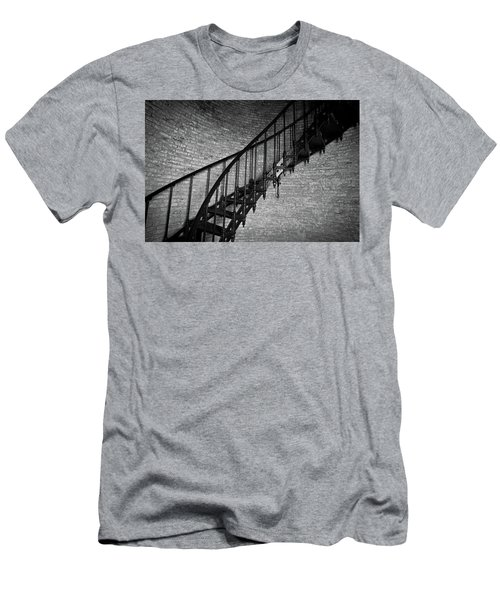 Enchanted Staircase II - Currituck Lighthouse Men's T-Shirt (Slim Fit) by David Sutton