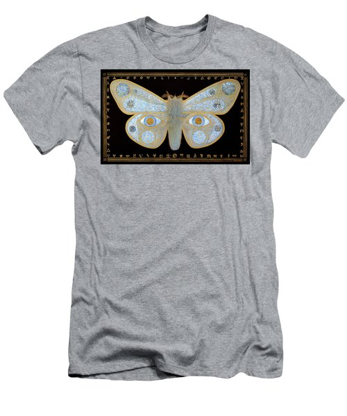 Men's T-Shirt (Slim Fit) featuring the painting Encryption by Laurie Stewart