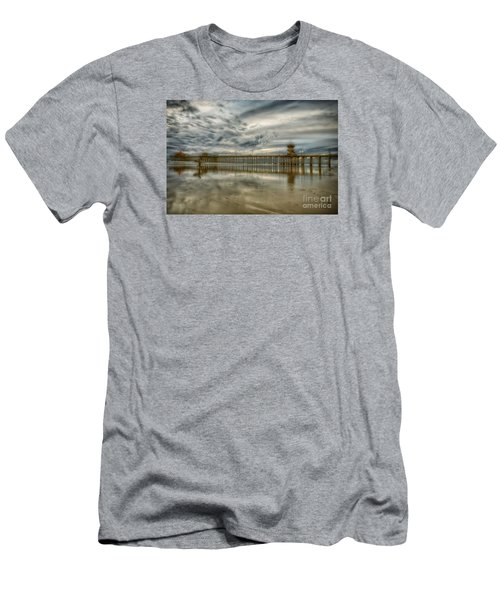 End Of Sunset Surf At Pier Men's T-Shirt (Athletic Fit)