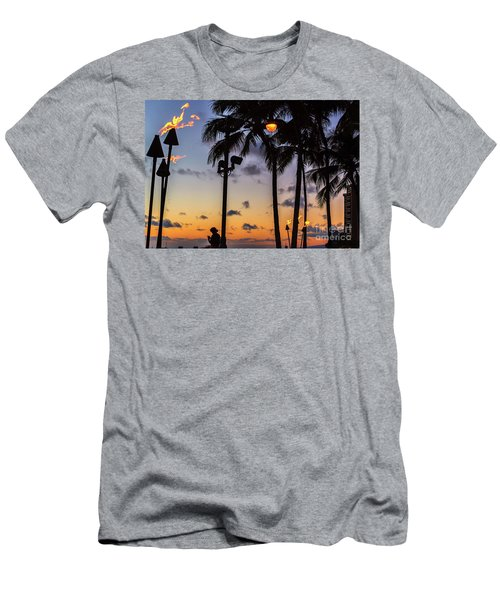 End Of The Beutiful Day.hawaii Men's T-Shirt (Athletic Fit)