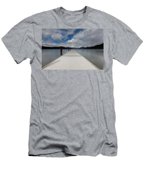 End Of The Dock Men's T-Shirt (Slim Fit) by Fran Riley