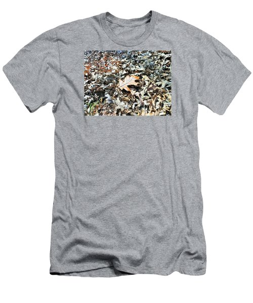 Men's T-Shirt (Slim Fit) featuring the photograph Endurance Of A Leaf by Kay Gilley