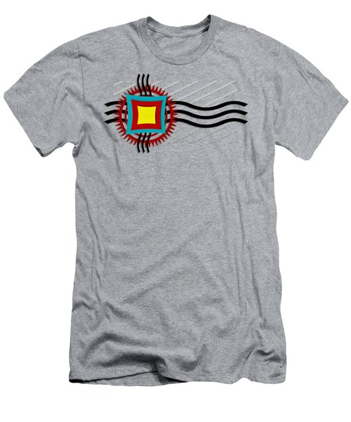 Men's T-Shirt (Slim Fit) featuring the digital art Energy Flow by Shawna Rowe