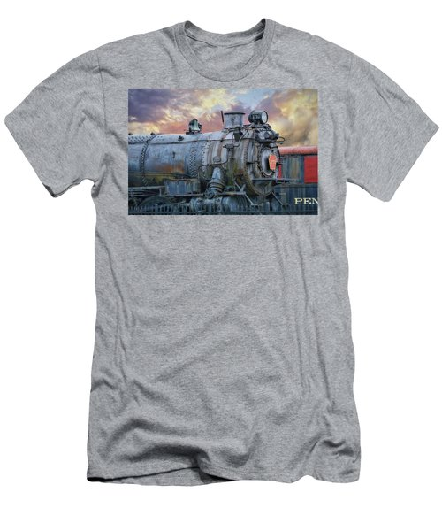 Men's T-Shirt (Slim Fit) featuring the photograph Engine 3750 by Lori Deiter