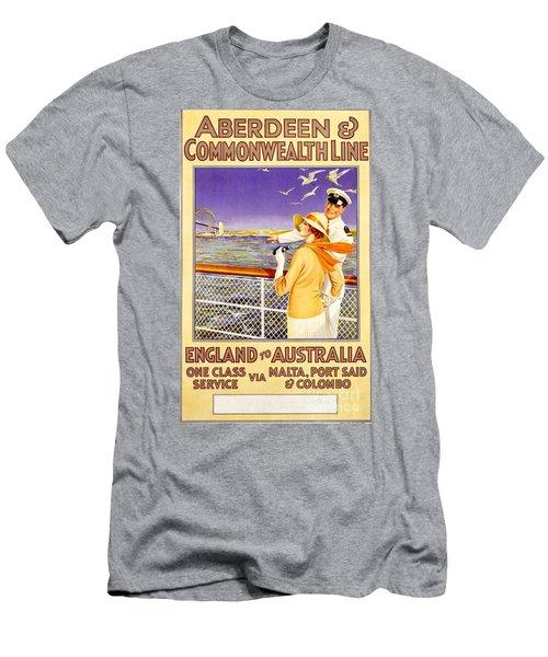 England To Australia Men's T-Shirt (Slim Fit) by Nostalgic Prints