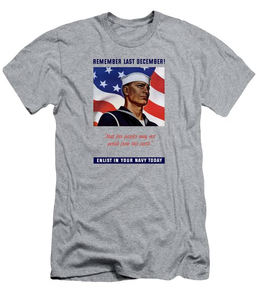 Enlist In Your Navy Today - Ww2 Men's T-Shirt (Athletic Fit)