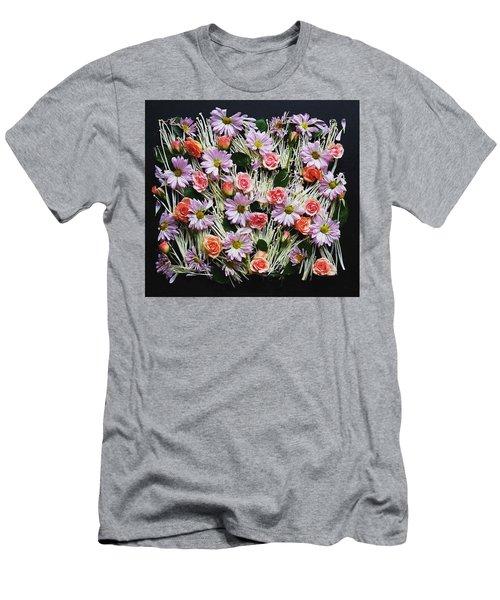 Enoki Mushroom Textures Men's T-Shirt (Athletic Fit)