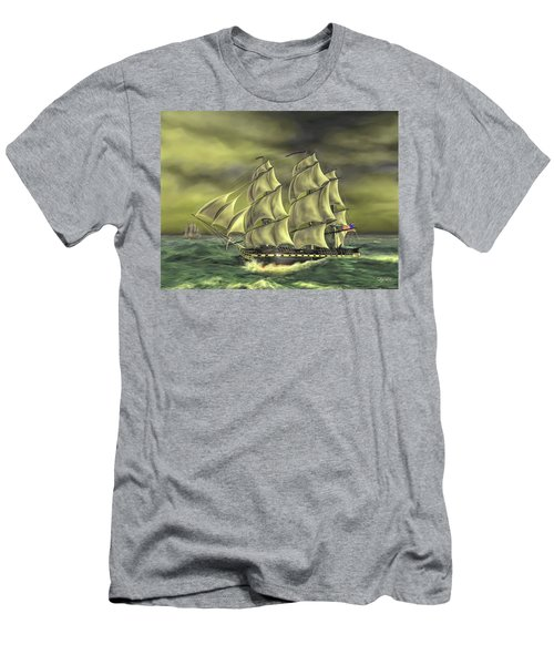 Men's T-Shirt (Slim Fit) featuring the painting Ensuring Liberty by Dave Luebbert