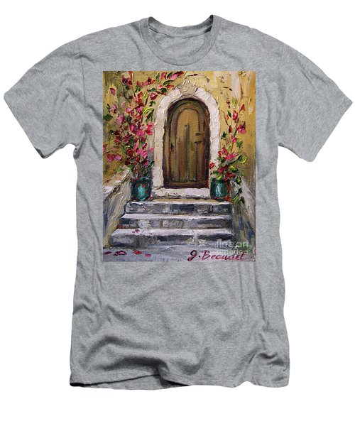 Enter Here Men's T-Shirt (Slim Fit) by Jennifer Beaudet