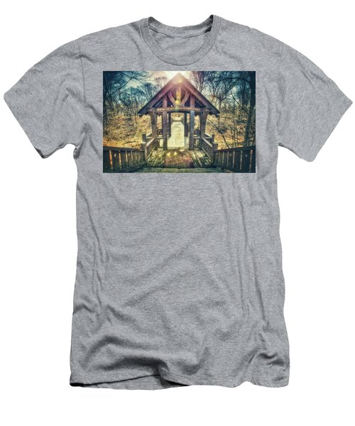 Men's T-Shirt (Slim Fit) featuring the photograph Entrance To 7 Bridges - Grant Park - South Milwaukee  by Jennifer Rondinelli Reilly - Fine Art Photography