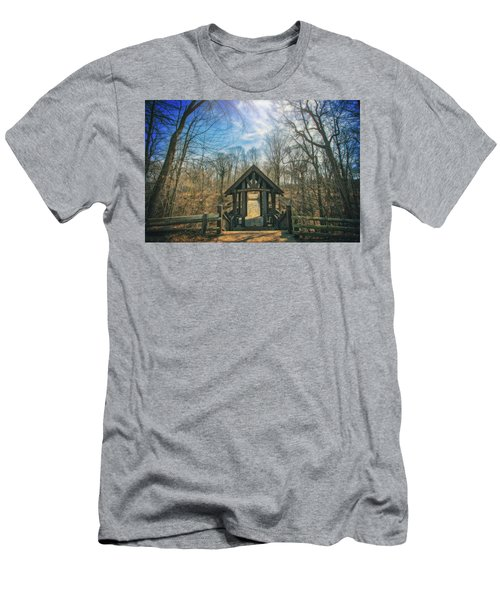 Men's T-Shirt (Slim Fit) featuring the photograph Entrance To Seven Bridges - Grant Park - South Milwaukee #3 by Jennifer Rondinelli Reilly - Fine Art Photography