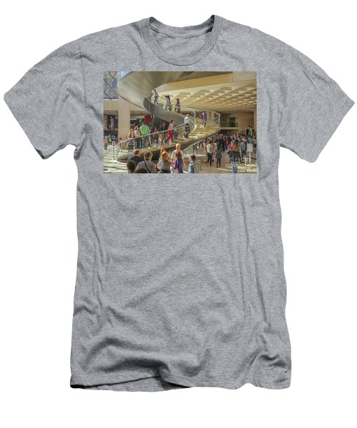 Entry Hall In The Louvre Museum Men's T-Shirt (Athletic Fit)