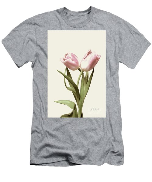 Entwined Tulips Men's T-Shirt (Slim Fit) by Jeannie Rhode