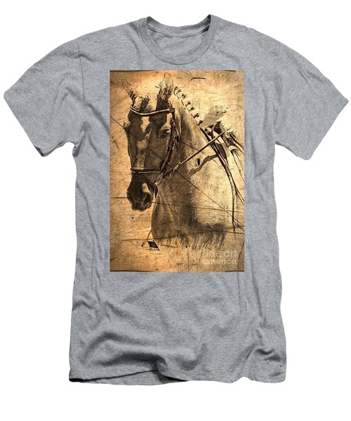Equestrian Men's T-Shirt (Slim Fit) by Clare Bevan