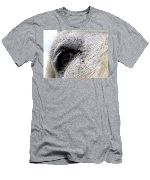 Men's T-Shirt (Slim Fit) featuring the photograph Equine Eye by Chris Mercer