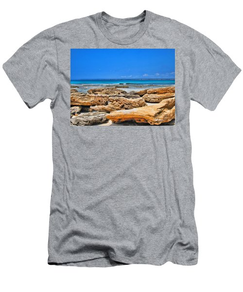 Men's T-Shirt (Slim Fit) featuring the photograph Es Trenc by Andreas Thust