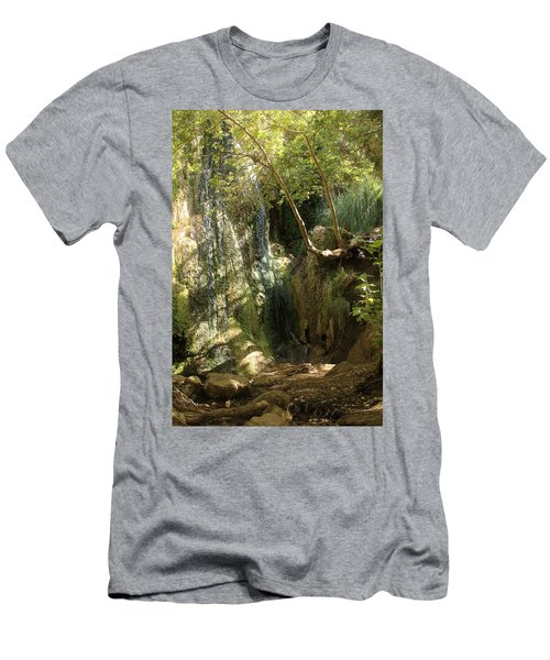 Escondido Falls In May Men's T-Shirt (Athletic Fit)