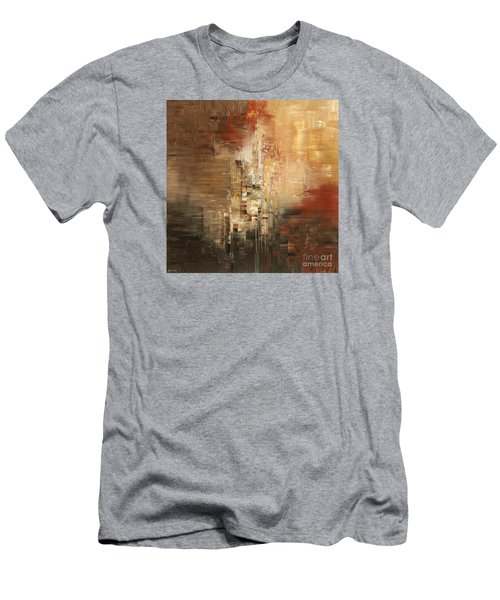 Men's T-Shirt (Slim Fit) featuring the painting Essential Connection by Tatiana Iliina