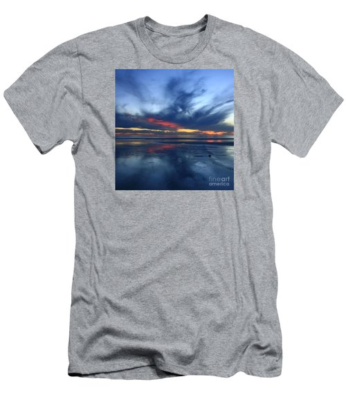 Ethereal Beach Blues Men's T-Shirt (Athletic Fit)