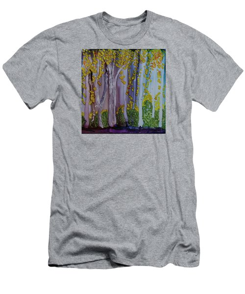 Men's T-Shirt (Slim Fit) featuring the painting Ethereal Forest by Suzanne Canner