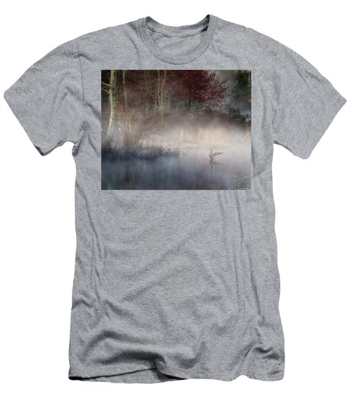 Men's T-Shirt (Slim Fit) featuring the photograph Ethereal Goose by Bill Wakeley