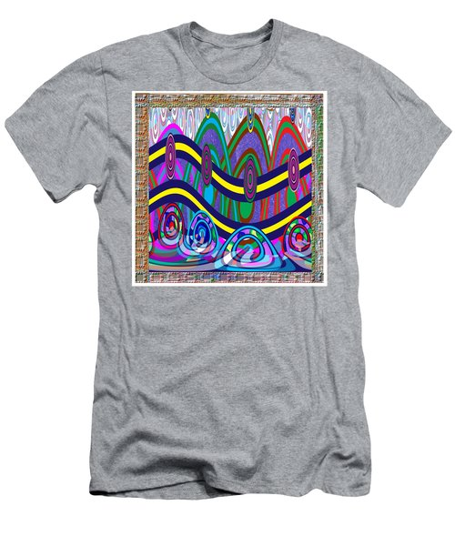 Ethnic Wedding Decorations Abstract Usring Fabrics Ribbons Graphic Elements Men's T-Shirt (Athletic Fit)