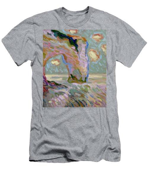 Etretat -1 Men's T-Shirt (Slim Fit) by Pierre Van Dijk