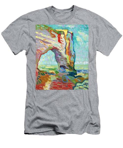 Etretat  Men's T-Shirt (Slim Fit) by Pierre Van Dijk