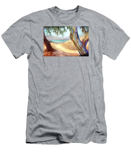 Eucalyptus Beach Trail Men's T-Shirt (Slim Fit) by Michael Rock